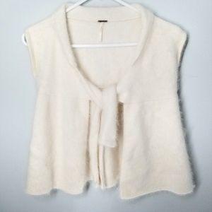 Free People Angora Tie Front Sweater Vest
